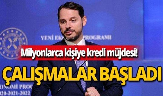 Hazine ve Maliye Bakanı Berat Albayrak kredi müjdesini verdi