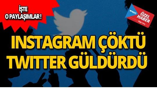 Instagram çöktü, Twitter güldürdü!