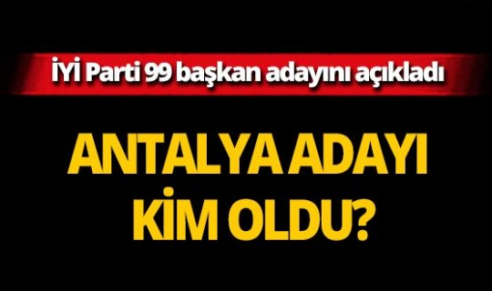 İYİ Parti 99 belediye başkan adayını açıkladı!