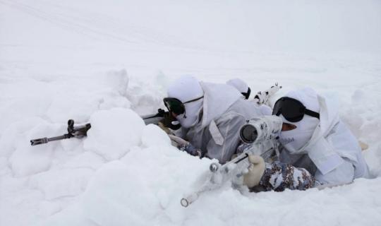 Karla kaplı arazide terör operasyonu