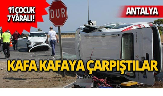 Kavşakta feci kaza: 1'i çocuk 7 yaralı!