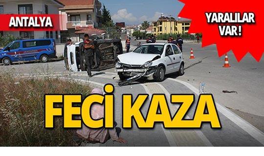 Kavşakta feci kaza: Yaralılar var!