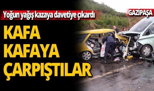 Kayganlaşan yolda feci kaza