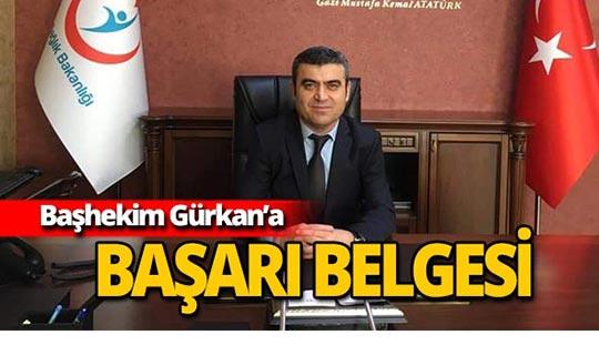 Kepez Devlet Hastanesi Başhekimi Ramazan Gürkan'a önemli ödül