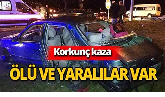 Korkunç trafik kazası : Hurdaya döndü!