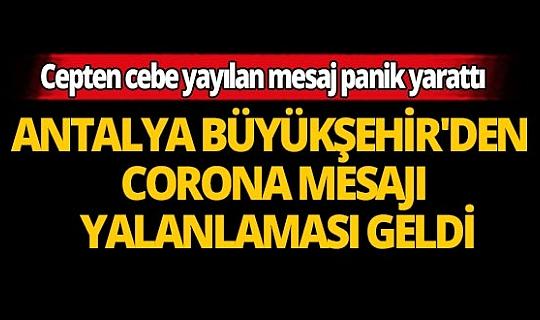 Corona virüsü için Antalya Büyükşehir Belediyesi'nden açıklama!