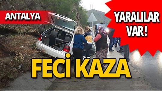 Manavgat-Akseki yolunda feci kaza!