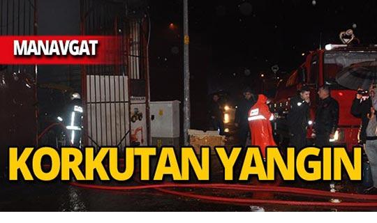 Manavgat'ta iş yeri yangını!