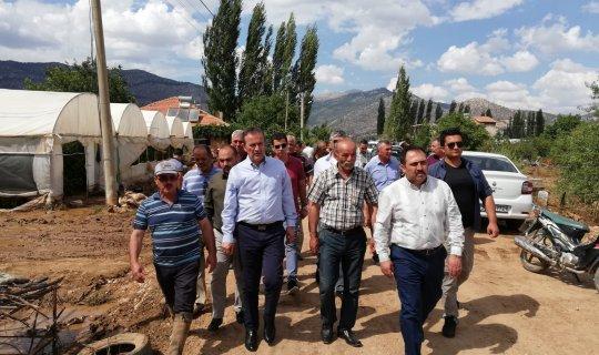 MHP'li Başkan sel felaketi sonrası Salur Köyü'nü ziyaret etti
