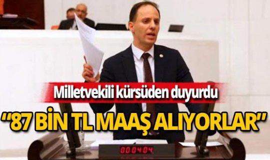 """Milletvekili, Sayıştay raporları ile açıkladı: """"87 bin lira maaşları var"""""""