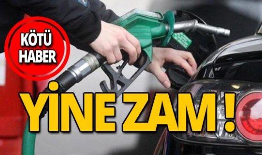 Motorin, benzin ve otogaz fiyatlarına zam
