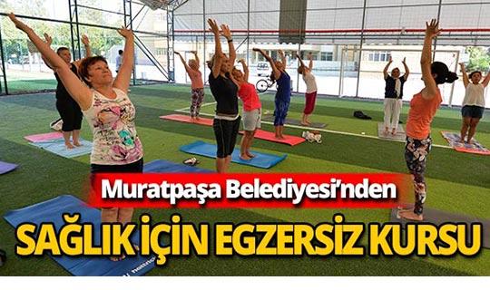 Muratpaşa'dan egzersiz kursu