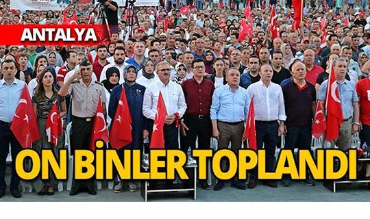 On binler 'Milli Birlik Günü' için toplandı