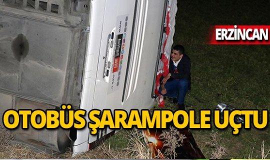 Otobüs şarampole uçtu: 17 yaralı