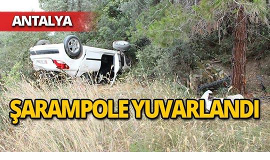 Otomobil şarampole yuvarlandı: 3 yaralı!