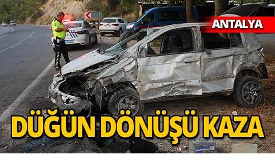 Otomobil ters döndü: Yaralılar var!