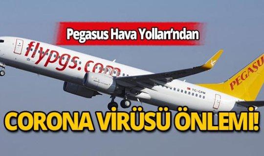 Pegasus'tan Corona virüsü önlemi!