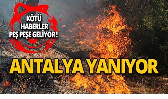 Perge Antik Kenti yakınında yangın!