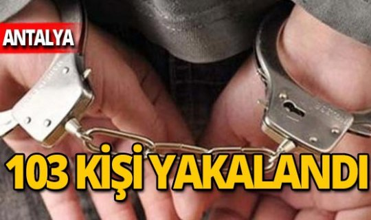 "Polisten ""Huzur Akdeniz"" operasyonu"