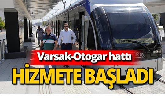 Raylı sistemde Varsak-Otogar hattı hizmette