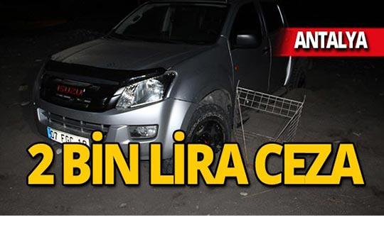 Sahil magandalarına 2 bin lira ceza!