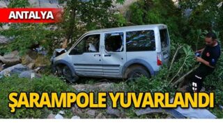 Şarampole yuvarlanan araçta can kaybı!