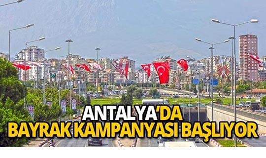 Şehrin dört bir yanında bayrak kampanyası başlıyor