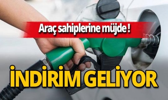 SON DAKİKA! Benzin fiyatlarında indirim müjdesi
