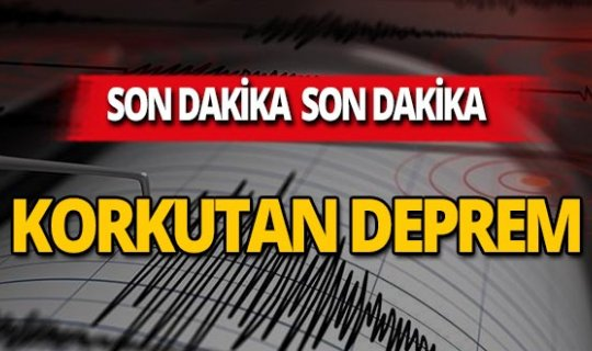 SON DAKİKA! İzmir'de deprem