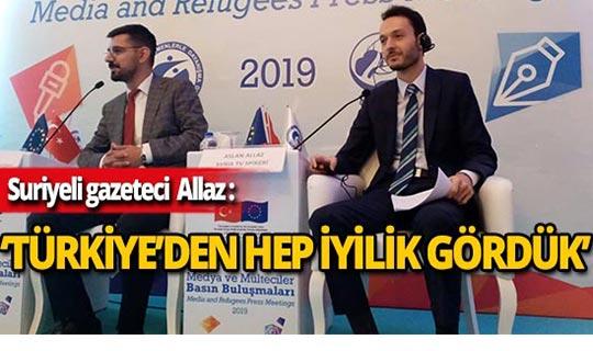 Suriyeli gazeteci Allaz, mülteciler hakkında konuştu
