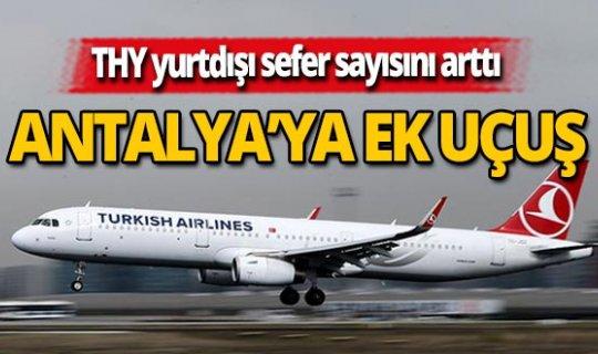 THY'den Antalya'ya 74 sefer daha
