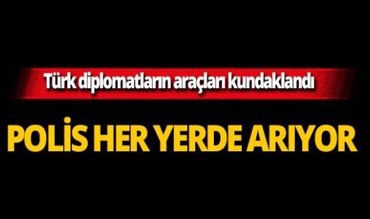 Türk diplomatların araçları kundaklandı!