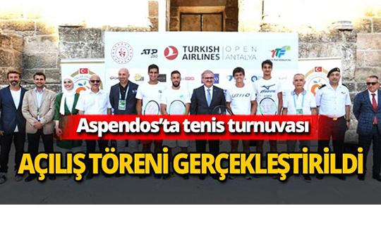 Turkish Airlines Antalya Open açılış töreni Aspendos'ta gerçekleşti