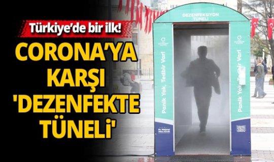 Türkiye'de bir ilk! Corona virüse karşı 'dezenfekte tüneli'