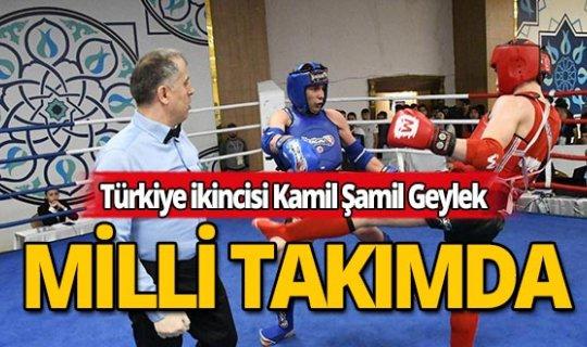 Türkiye ikincisi Kamil Şamil Geylek milli takımda!
