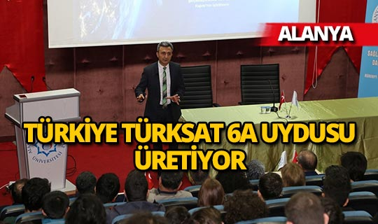 TÜRKSAT Genel Müdürü Cenk Şen ALKÜ'de konuştu