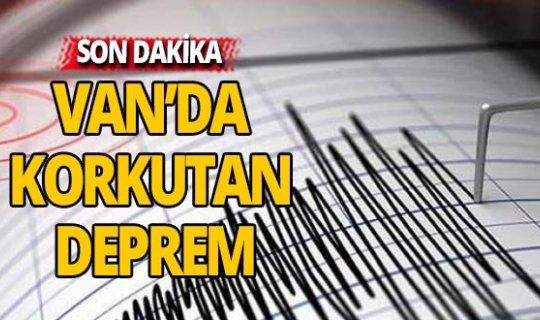 Van'da korkutan deprem...