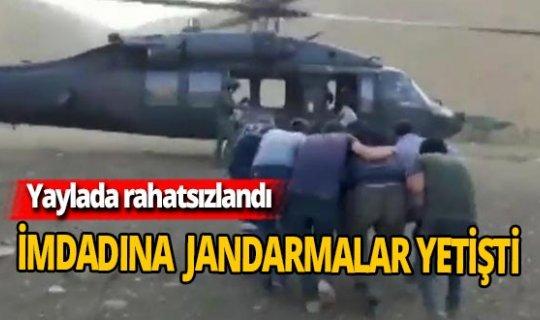 Vatandaşın imdadına 'Skorski' helikopter yetişti