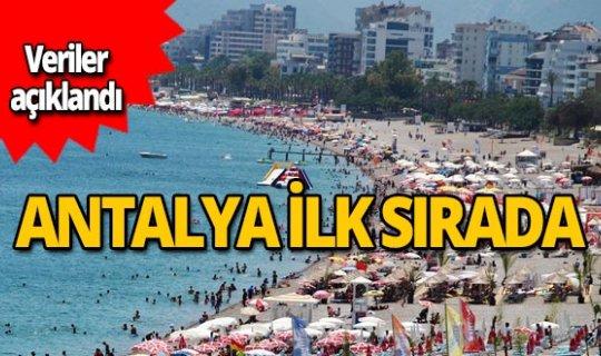Veriler açıklandı! Antalya ilk sırada