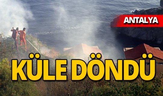 Villaların yamacında korkutan yangın!