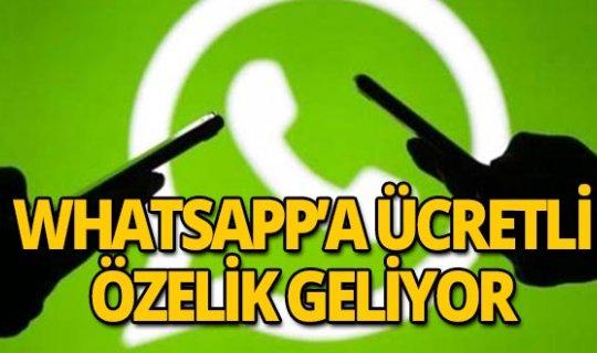 WhatsApp'a ücretli özellik