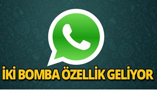 WhatsApp'a iki yeni özellik geliyor!