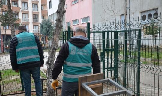 Yükümlülerden okul tadilat ve temizlik çalışması