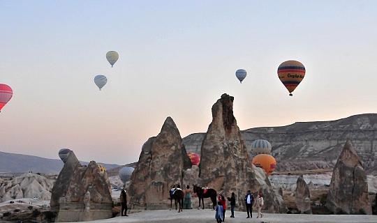 10 ayda 874 bin turist Kapadokya'yı ziyaret etti