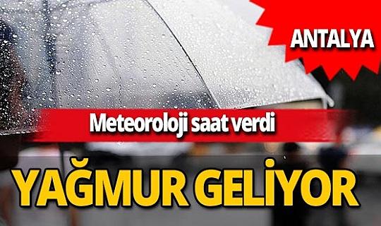 14 Kasım 2020 Antalya'da hava durumu...Meteoroloji saat verdi: Yağmur geliyor