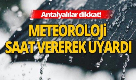 15 Kasım 2020 Antalya'da hava durumu!