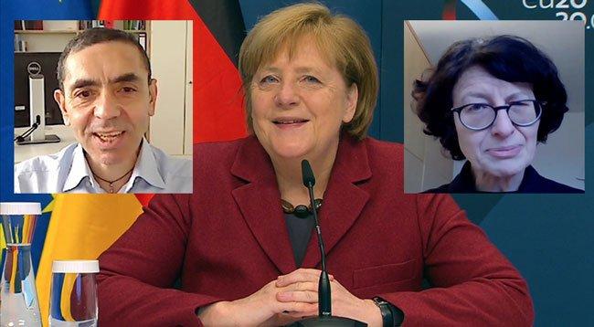 Almanya Başbakanı Merkel'den Şahin ve Türeci'ye övgü!