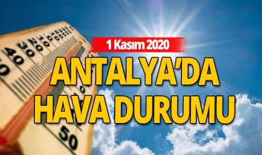 1 Kasım 2020 Antalya'da hava durumu