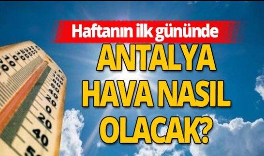 2 Kasım 2020 Antalya'da hava durumu