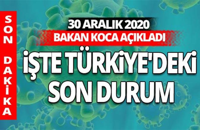 SON DAKİKA! 30 Aralık 2020 koronavirüs tablosu açıklandı